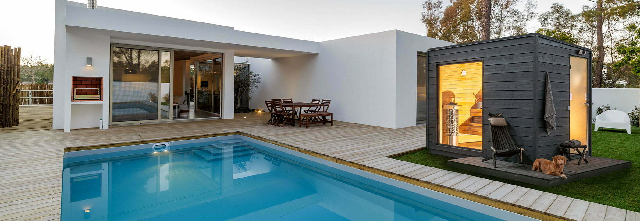 Saunahus-pool